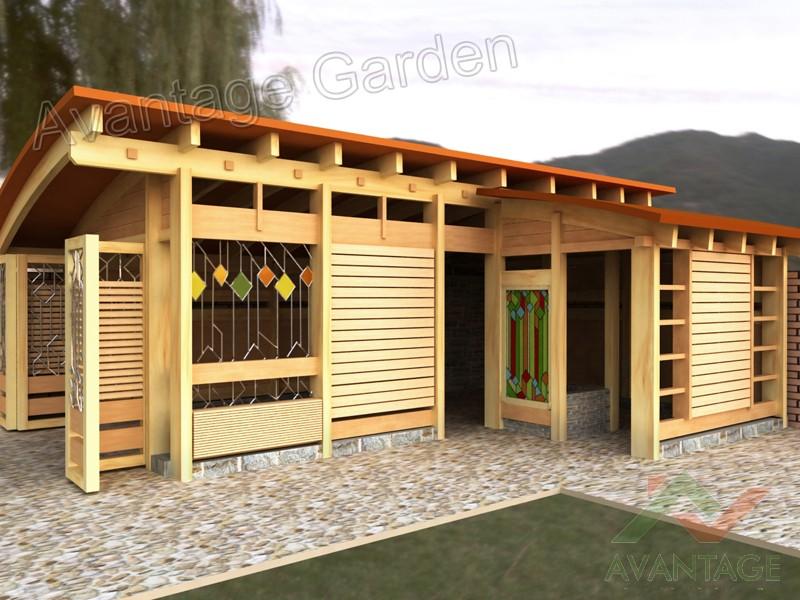 Фото дизайн надворных построек в частном доме