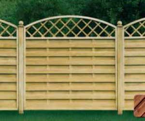 Деревянный забор Леон