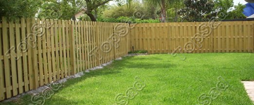 Деревянный забор Штакетник